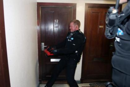 A raid on a Glasgow home as part of the operation