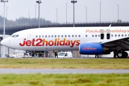 The Jet2 flight was stranded for more than two hours