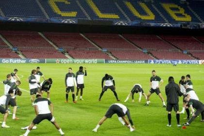 Celtic train in Spain ahead of their testing tie with Barca in the Champions League