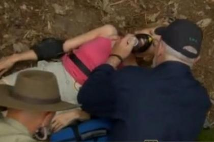 Gillian McKeith is taken ill during a past series of I'm A Celebrity...