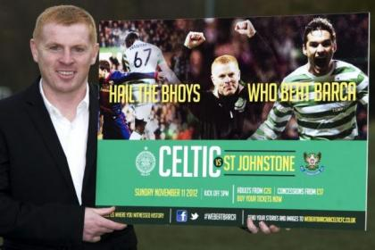 Neil Lennon wants Celtic fans to hail their Barca heroes against St Johnstone on Sunday afternoon