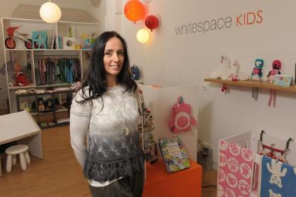 Karla Kellog has opened a kids' toy and clothing shop