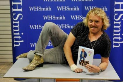 Keith Lemon with lookalike Dylan Bolton, 14, from Dumbarton