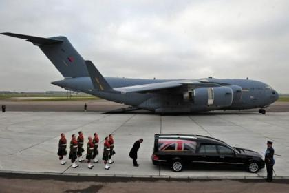 Captain Walter Barrie's body was returned to the UK