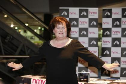 Susan Boyle said she was overwhelmed by the turn-out in Glasgow