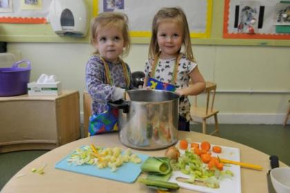 Mirren Whyte and Jessica Gilmour have the recipe for fun as they make soup