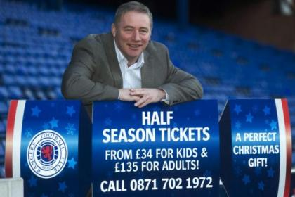 Ally McCoist today unveiled a new cut-price ticket promotion for Christmas