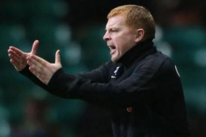 Neil Lennon tries to urge on his players against Inverness on Saturday