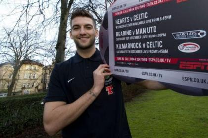 Charlie Mulgrew is looking forward to facing Hearts at Tynecastle