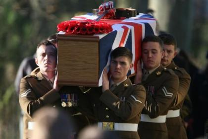 1000 people gathered for Captain Barrie's funeral