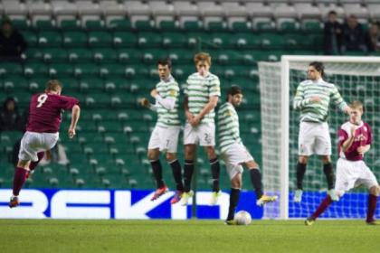 Steven Doris' strike silenced the small crowd at Parkhead