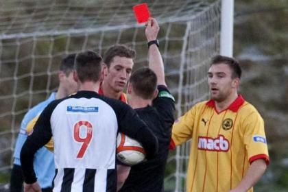 Aaron Muirhead's red card was a big blow to Thistle