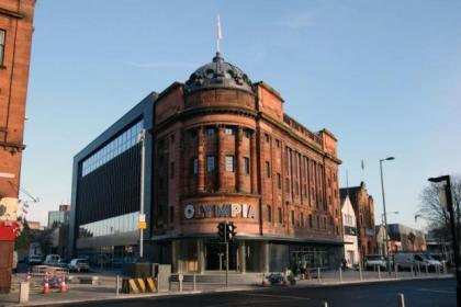 The revamped Olympia building includes the Times Past cafe and office space as well as the library