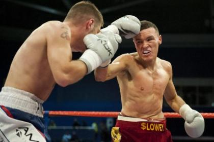Jon Slowey, right, is hoping to be fighting on Ricky Burns' undercard at the ExCel in London