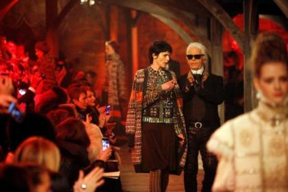 n Poppy Delavigne Pictures: Mark Mainz n Karl Lagerfeld and Stella Tennant during the Chanel show at Linlithgow Palace Picture: Mark Mainz Karl Lagerfeld and Stella Tennant during the Chanel show at Linlithgow Palace Picture: Mark Mainz