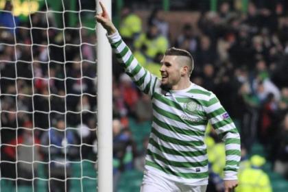 Hooper celebrates scoring the opening goal