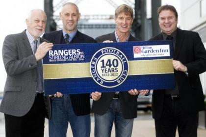 Colin Jackson, Mark Hateley, Richard Gough and big DJ get set to celebrate 140 years of Rangers