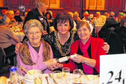 Nancy Park, left, and Anne Kilpatrick, right, met Lord Provost Sadie Docherty at the first lunch event held this week