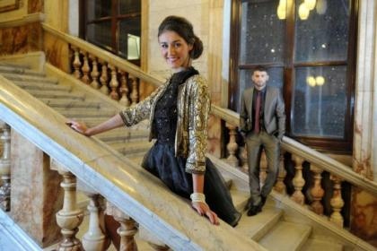 Styling by Rachel Loxton and Jennifer Cauley. Pictures by Nick Ponty, taken in Glasgow City Chambers. All clothes from stores in Buchanan Galleries.