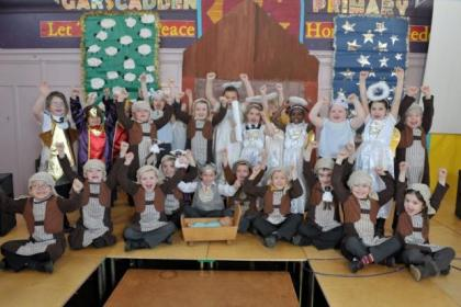 The children of Garscadden Primary are thrilled with their new Nativity costumes