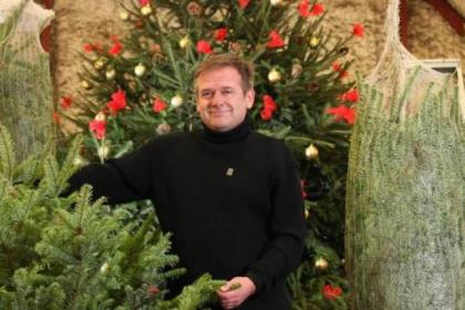 n It's ho, ho, hoe as Stephen Burns  reveals some  of the trees  suitable for Christmas
