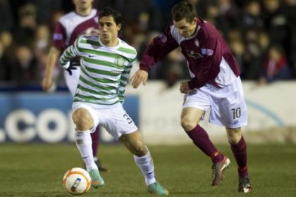 Beram Kayal is tracked by Arbroath's Paul Currie