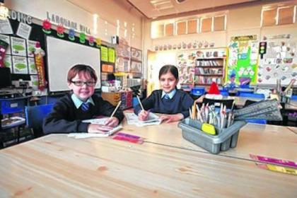 Pupils at St Rochs make the most of the upgraded facilities