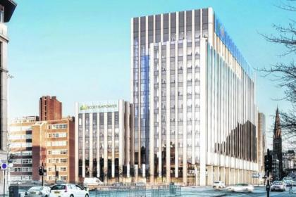 An artist's impression of the new base for ScottishPower in the city's St Vincent Street