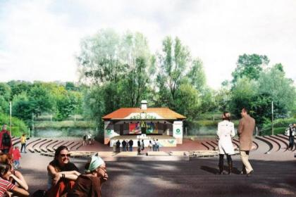 An artist's impression of the refurbished bandstand