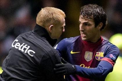 Neil Lennon says Celtic have already faced Europe's best team in Cesc Fabregas' Barcelona