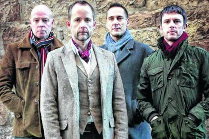 Billy Boyd, front, and his band Beecake