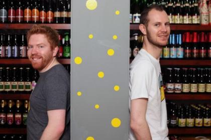 Derek Hoy, left,  and Alec Knox own Hippo Beers