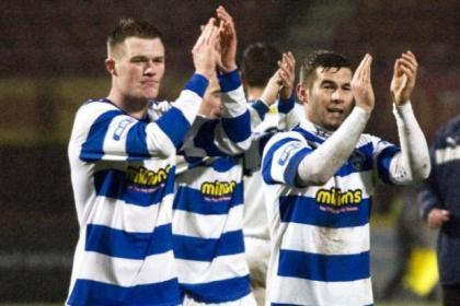 Tony Wallace and Peter MacDonald celebrate