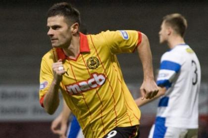 Stevie Craig celebrates having put Thistle in front