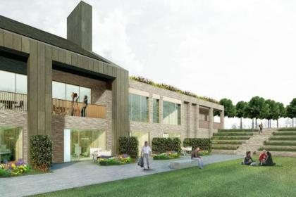 An artist's impression of how the new hospice will look