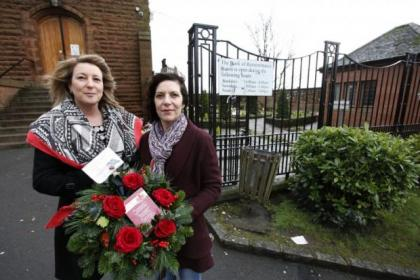 Ann McFadyen and Mary Millson couldn't lay their family wreath on Christmas day