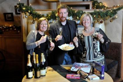 Pauline O'Donnell, Les  Somerville and Jacqueline O'Donnell carried out their taste test at The Sisters restaurant