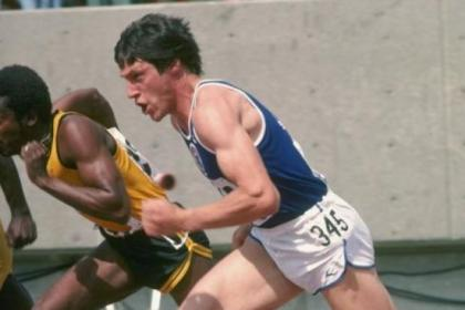 Allan Wells in action during the 100 metres event in 1978