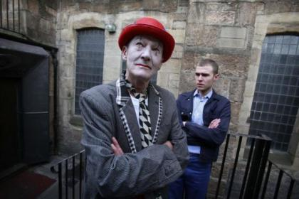David Hayman, front, as the alter ego of prisoner Iain De Caestecker in Please, Mister