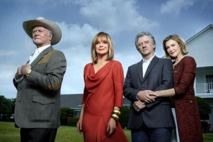 n Dallas returns complete with old favourites, from left, Larry Hagman, Linda Gray, Patrick Duffy and  newcomer Brenda Strong