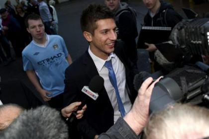 Serbian striker Matija Nastasic could trouble the Scotland defence