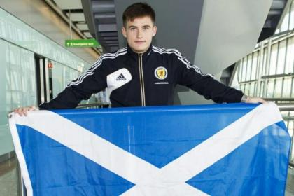 Rhys McCabe flys the flag for Scotland
