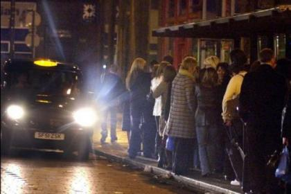 City centre taxi ranks have seen much fewer customers compared to the spring and summer of 2011