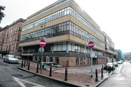 Planning permission is being sought to convert a former bank and surrounding offices into student accommodation in Glasgow's Clifton Place, near Kelvingrove Park