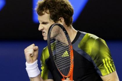 Andy Murray summoned up every ounce of guts to beat Roger Federer in four sets today to set up a final with Novak Djokovic