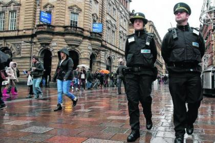Cameras on badges have been used by enforcement officers on patrol in the city centre