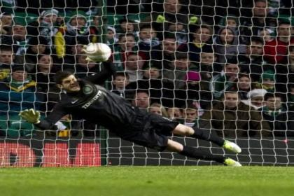 Forster did well to save Hateley's penalty kick