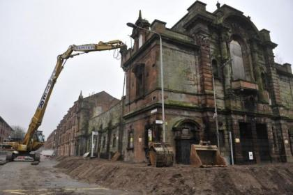Springburn Halls was demolished suddenly.