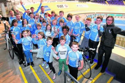 Youngsters from Glasgow Riderz cycling club are delighted to use the Sir Chris Hoy Velodrome after being inspired by the Scots Olympic star