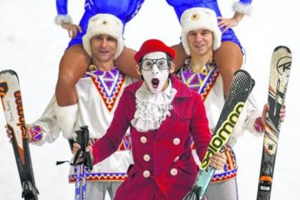 Moscow State Circus stars took to the slopes at Braehead